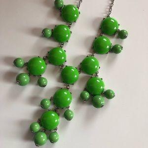 Festival Boho Bubble Statement Necklace Green
